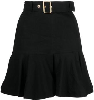 Pinko Buckled Tiered Miniskirt
