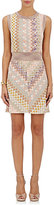 Missoni Women's Metallic-Knit Crochet Minidress-GOLD