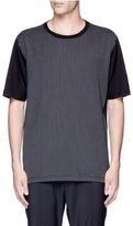 Lanvin Speckled stripe front T-shirt