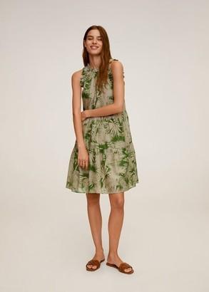 MANGO Tropical print dress green - 2 - Women