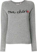 Chinti & Parker embroidered cashmere sweater