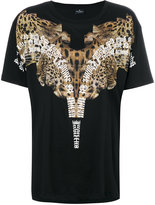 Marcelo Burlon County of Milan leopard shoulder print T-shirt