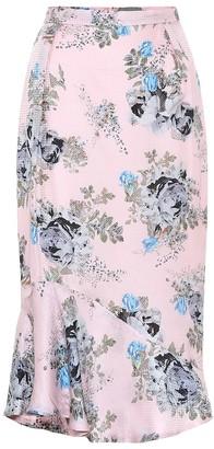 Preen by Thornton Bregazzi Eleau floral silk-blend midi skirt