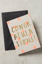Anthropologie Dotted Congratulations Card