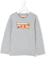 Levi's Kids - pizza print longsleeved T-shirt - kids - Cotton/Polyester - 4 yrs
