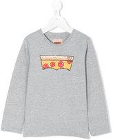 Levi's Kids pizza print longsleeved T-shirt