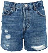 Topshop TALL Ripped Ashley Denim Shorts