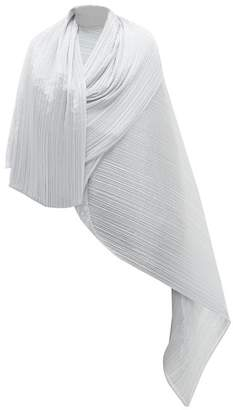 Pleats Please Issey Miyake Madame Pleated Scarf - Womens - Light Grey
