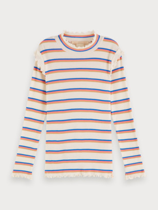 Scotch & Soda Striped Rib Knitted T-Shirt | Girls