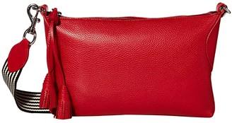 Rebecca Minkoff Tassel Crossbody w/ Webbing Strap (Paprika) Handbags