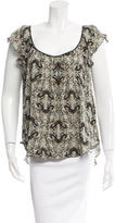 L'Agence Silk Butterfly Print Top w/ Tags