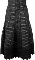 Alexander McQueen scallop edge lace skirt - women - Silk/Polyester/Viscose - M