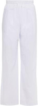 James Perse Striped Cotton-poplin Track Pants