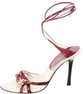 Sergio Rossi Leather Ankle Wrap Sandals