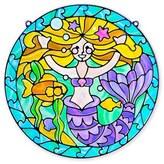 Melissa & Doug Girl's 'Stained Glass Made Easy - Mermaid' Peel & Press Sticker Kit