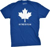 Crazy Dog T-shirts Crazy Dog Tshirts Mens Canada On the Eh Team T-Shirt Funny Canadian Shirts (Royal )