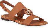Tory Burch Miller Flat Metal Medallion Sandals