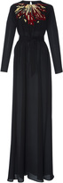Martin Grant Embroidered Long Sleeve Gown