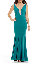 GB Social Deep-V Mermaid Gown