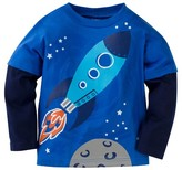 Gerber Graduates® Toddler Boys' Spaceship Long Sleeve Shirt - Blue