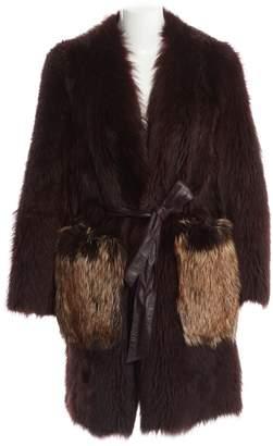 By Malene Birger Burgundy Fox Coats