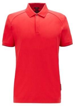 Slim-fit polo shirt in interlock cotton