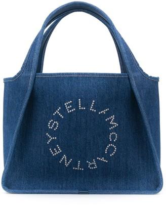Stella McCartney Stella Logo denim tote bag