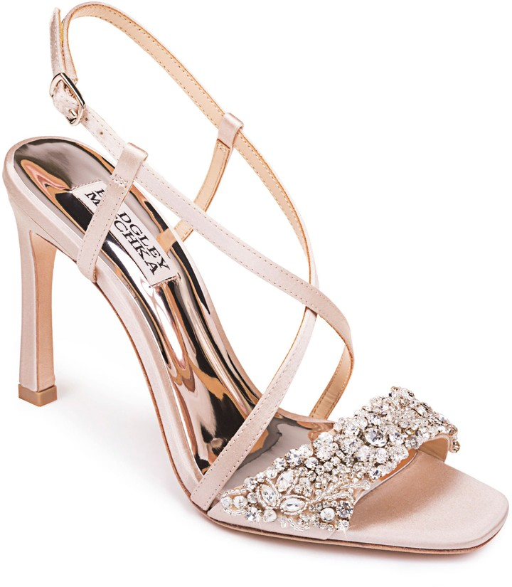 Badgley Mischka Collection Elana Embellished Slingback Sandal