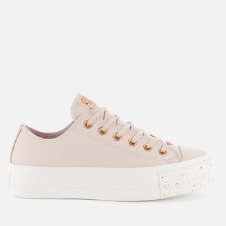 Converse Chuck Taylor All Star Lift Speckled Ox Trainers - Platinum Violet/Rose Maroon