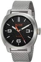 HUGO BOSS BOSS Orange Men's 'CAPE TOWN' Quartz Stainless Steel Casual Watch, Color:Silver-Toned (Model: 1550013)