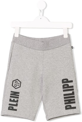Philipp Plein Junior Logo Print Casual Shorts