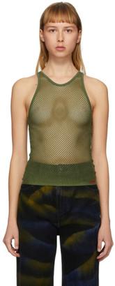 032c Green Mesh Logo Embroidery Tank Top