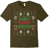 Men's Merry Crispness Bacon Ugly Christmas Sweater XL