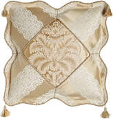 """Sweet Dreams Meriemont Scalloped Pillow with Corner Tassels, 18""""Sq."""