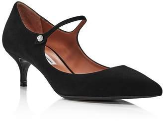 Tabitha Simmons Women's Hermione Mary Jane Kitten Heel Pumps