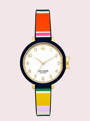 Kate Spade Park Row Multi Stripe Silicone Watch