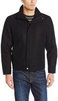 London Fog Men's Wool Blend Stand Collar Jacket