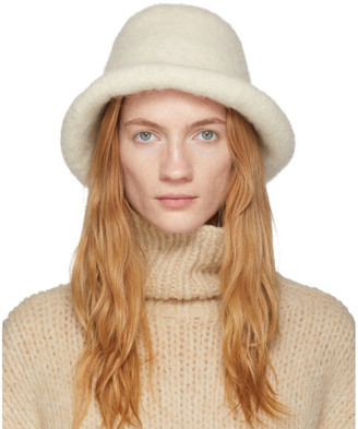 LAUREN MANOOGIAN Off-White Felt Brim Hat