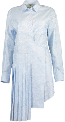 Off-White Off White Waves Wrap Panel Shirtdress