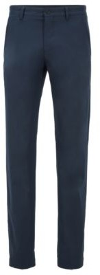 BOSS Slim-fit trousers in moisture-wicking fabric