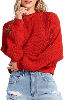 Billabong Great Escapes Cable & Seed Stitch Sweater