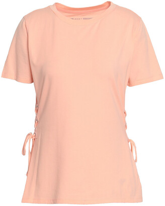 DKNY Lace-up Stretch Cotton And Modal-blend T-shirt