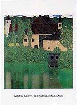 Gustav 1art1 Posters Klimt Poster Art Print - Il Castello Sul Lago (12 x 9 inches)