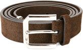 Brunello Cucinelli silver-tone hardware belt - men - Leather - 95