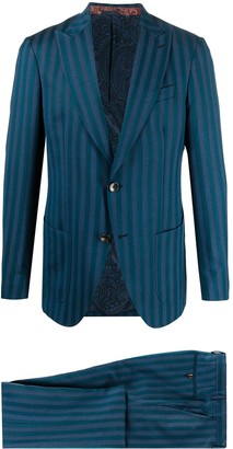 Etro Striped Single-Breasted Suit