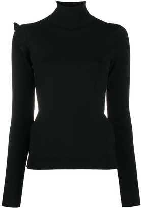 Rochas Ruffle Trim Roll Neck Jumper