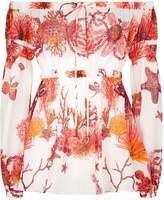 Roberto Cavalli Off-The-Shoulder Printed Top