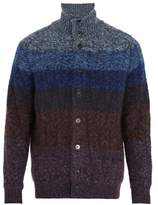 Missoni High-neck wool-blend cardigan