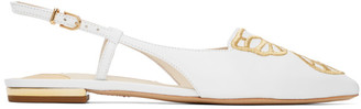 Sophia Webster White Butterfly Slingback Flats