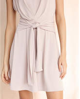 Express fit and flare tie front mini dress
